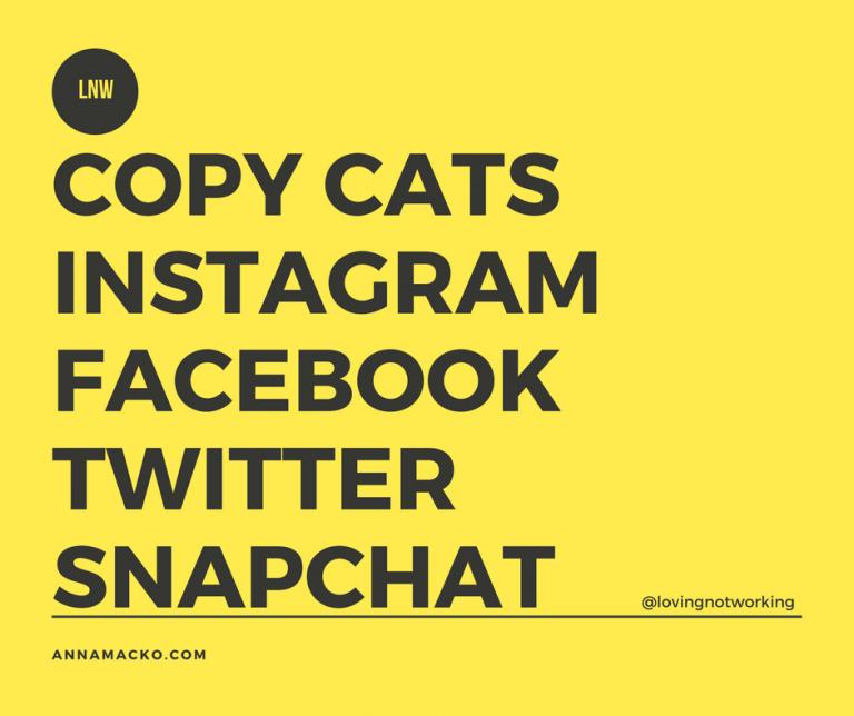 Copy Cats Instagram Facebook Twitter Snapchat