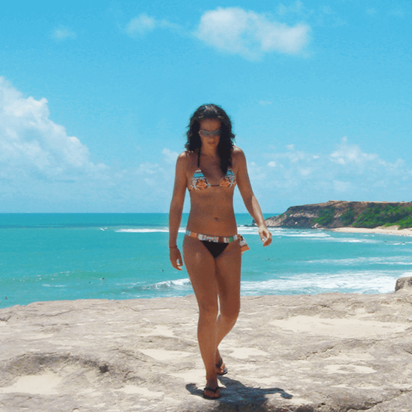Anna in beach